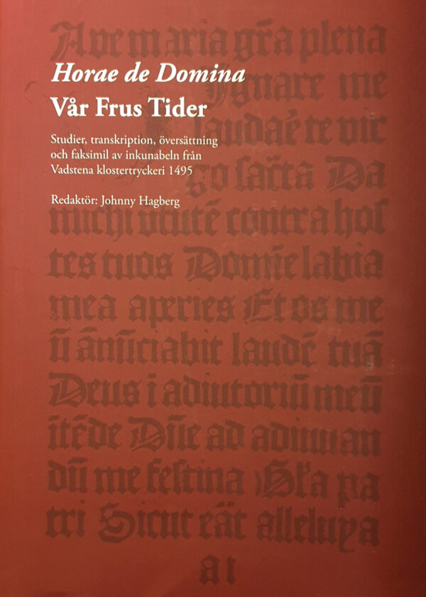 Ut utdrag av texten i bönboken är avbildad på framsidan.
