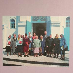 Ett foto med människor och Sveriges kung Karl XI Gustaf.